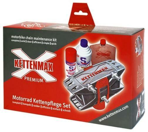 Obrázek produktu KETTENMAX PREMIUM - pračka na motocyklové řetězy (kompletní sada vč. čističe a konzervantu řetězů) KMP-KD-002-NEU
