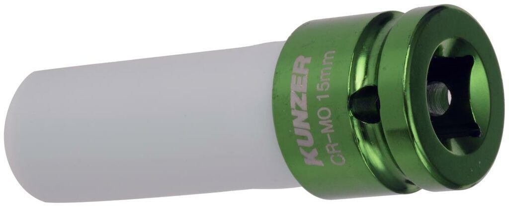 """Obrázek produktu nástavec k rázovým utahovákům 1/2"""", tmavě zelený, 15 mm 812RK15"""