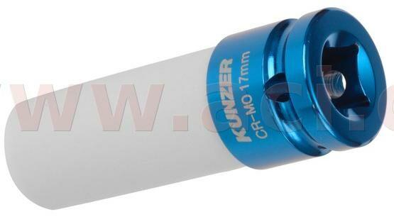 "Obrázek produktu nástavec k rázovým utahovákům 1/2"", modrý, 17 mm 812RK17"