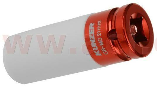 "Obrázek produktu nástavec k rázovým utahovákům 1/2"", červený, 21 mm 812RK21"