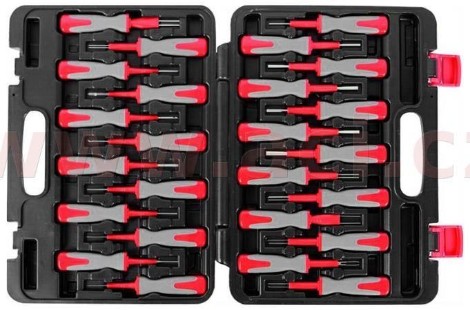 Obrázek produktu sada pro rozpojování/vypichování konektorů v kufříku, 25 ks 7SKE25