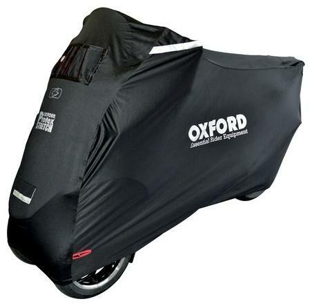 Obrázek produktu plachta na skútry s přední nápravou Protex Stretch Outdoor s klimatickou membránou, OXFORD - Anglie (černá, uni velikost) CV164