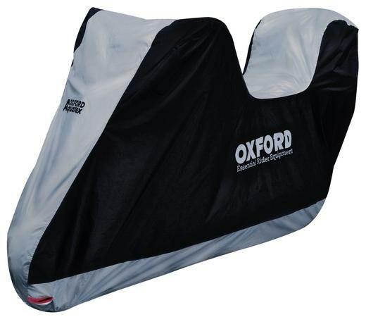 Obrázek produktu plachta na motorku Aquatex s prostorem na kufr, OXFORD (černá/stříbrná)