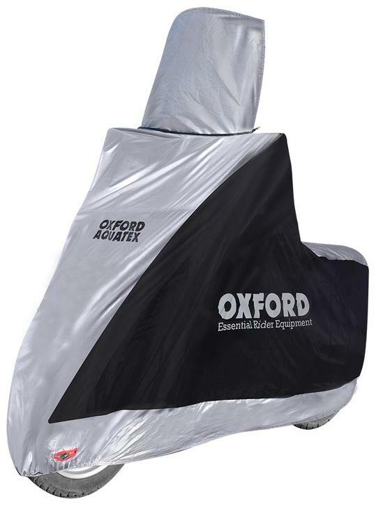 Obrázek produktu plachta na motorku Aquatex Highscreen Scooter provedení pro vysoké plexi, OXFORD - Anglie (černá/stříbrná, uni velikost) CV216