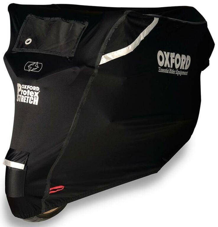 Obrázek produktu plachta na motorku Protex Stretch Outdoor s klimatickou membránou, OXFORD (černá)