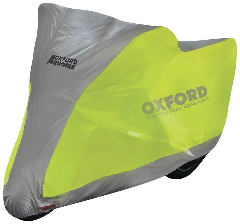 Obrázek produktu plachta na motorku Aquatex Fluo, OXFORD (žlutá fluo/stříbrná)