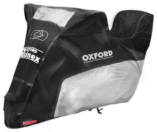 Obrázek produktu plachta na motorku Rainex model s prostorem na kufr, OXFORD (černá/stříbrná)