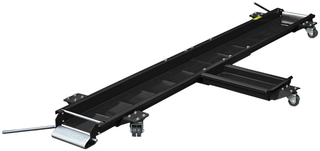 Obrázek produktu pojízdná podložka pod motocykl (pod přední a zadní kolo a boční stojan), Q-TECH (černá) JL-M03009