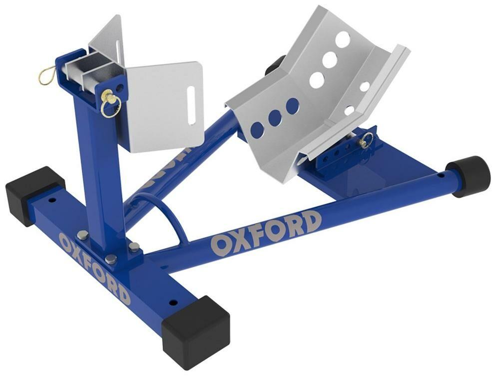 Obrázek produktu držák předního kola motocyklu Bike Dock, OXFORD (modrý) OX781