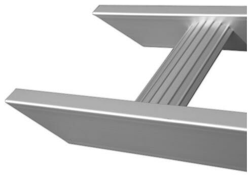 nájezdová rampa hliníková, Q-TECH (1 ks) AR30 SHORT NOT FOLDABLE-3