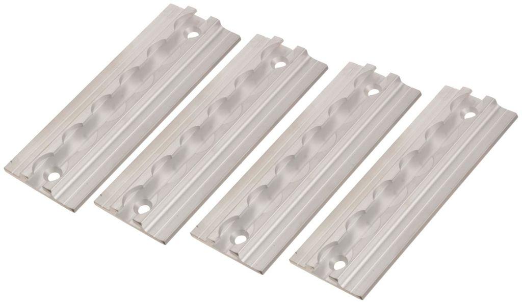 Obrázek produktu kotevní lišta hliníková 15 cm, Q-TECH (sada 4 ks, stříbrná) TRACK002