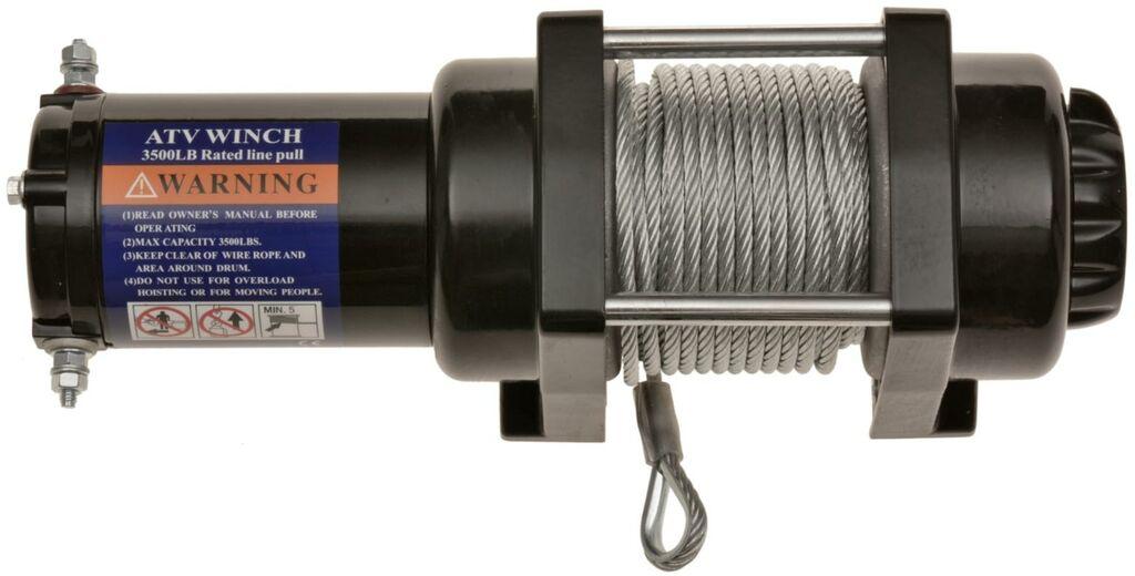 Obrázek produktu naviják ATV / UTV s ocelovým lanem, tažná síla 1 590 kg, Q-TECH WSH3500