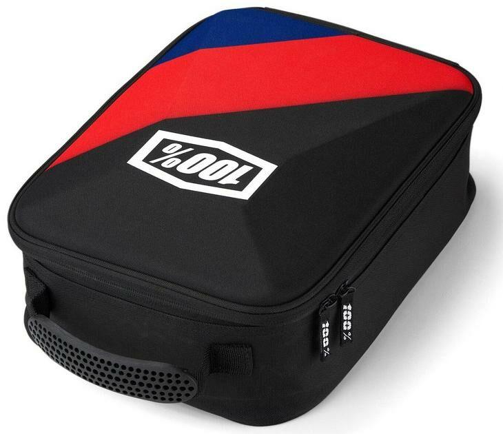 Obrázek produktu kufr na motokrosové brýle Cornestone, 100% - USA (černá/červená/modrá) 01001-294-01