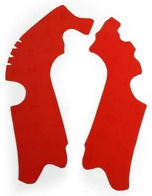 Obrázek produktu gumové protektory rámu Honda, VIBRAM (sada, červená) M7332R