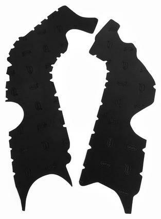 Obrázek produktu gumové protektory rámu Honda, VIBRAM (sada, černá) M7349N
