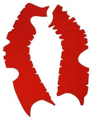 Obrázek produktu gumové protektory rámu Honda, VIBRAM (sada, červená) M7352R