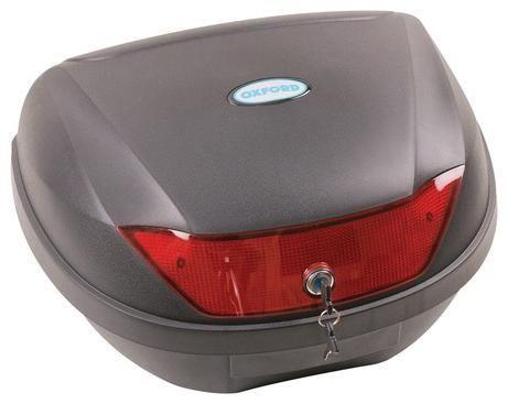 Obrázek produktu kufr Top Case plast, OXFORD - Anglie (černý nelakovaný, objem 24 l) OL200