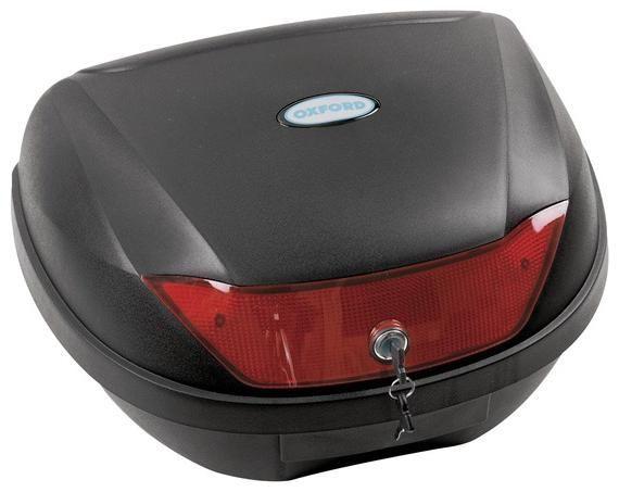 Obrázek produktu kufr Top Case plast, OXFORD - Anglie (černý nelakovaný, objem 44 l) OL201