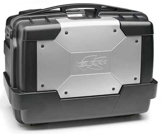Obrázek produktu MONOKEY TopCase/Boční kufr GARDA - 46l, KAPPA (stříbrný/černý, kompozit) KGR46