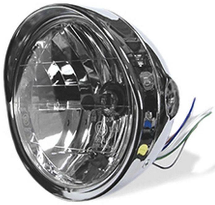 Obrázek produktu přední světlo hlavní kulaté s kšiltem (průměr 190 mm, H4 12V 60/55W) 7995
