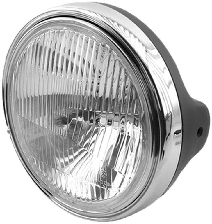 Obrázek produktu přední světlo hlavní kulaté černé/chrom (průměr 190 mm, H4 12V 60/55W) 7276