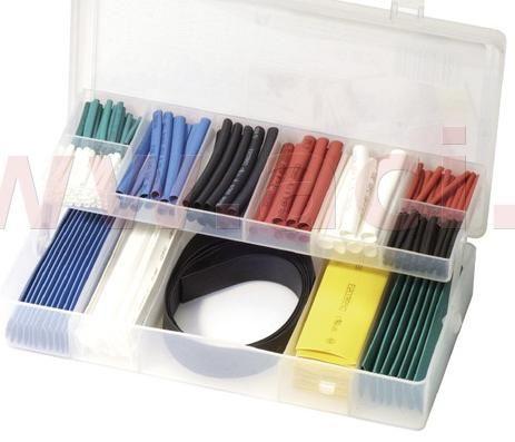 Obrázek produktu sada barevných smršťovacích bužírek (171 ks), BIKESERVICE BS1030
