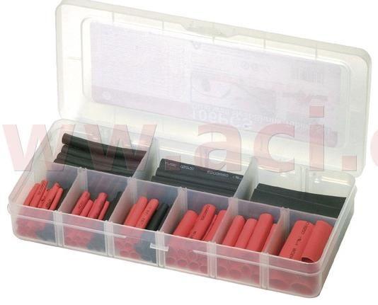 Obrázek produktu sada vodotěsných barevných smršťovacích bužírek (106 ks), BIKESERVICE BS1031