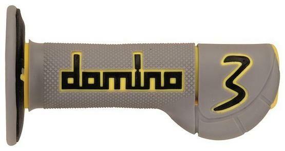 Obrázek produktu gripy (offroad) délka 118 mm, DOMINO (šedo-žluto-černé) A230C475240A6-1