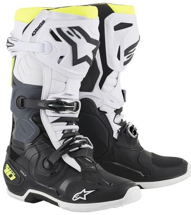 Obrázek produktu boty TECH 10 2020, ALPINESTARS (černá/bílá/žlutá fluo) 2010019-125