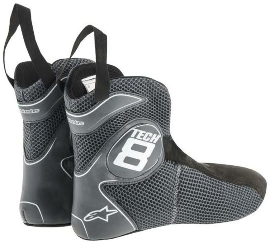 boty TECH 8 RS VENTED, ALPINESTARS (bílé, perforovaná obšívka) 2011015-20-1