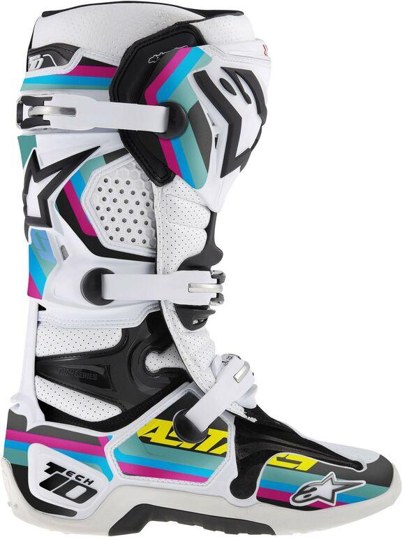 Obrázek produktu sada polepů pro boty TECH 10 model 2014 až 2018, ALPINESTARS (černá/světle modrá/fialová/zelená)