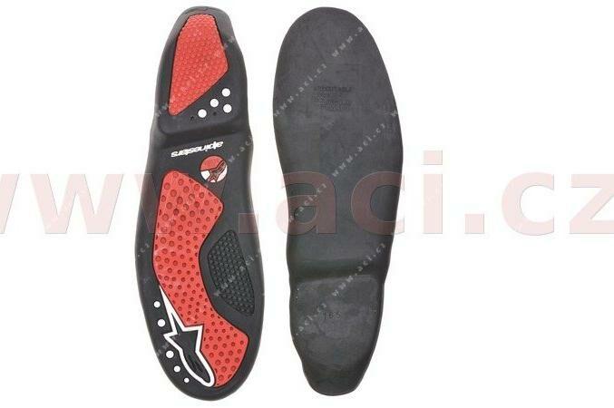 Obrázek produktu podrážky pro boty SMX 5/SMX 1, ALPINESTARS (černé/červené, pár)
