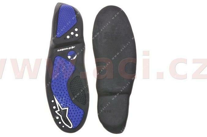 Obrázek produktu podrážky pro boty SMX 5/SMX 1, ALPINESTARS (černé/modré, pár)