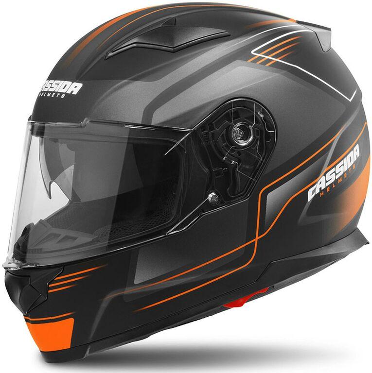 Obrázek produktu přilba Apex Fusion, CASSIDA (černá matná/oranžová/bílá, balení vč. Pinlock folie)