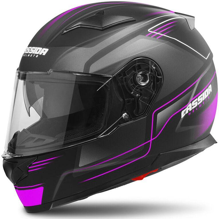 Obrázek produktu přilba Apex Fusion, CASSIDA (černá matná/růžová/bílá, balení vč. Pinlock folie)