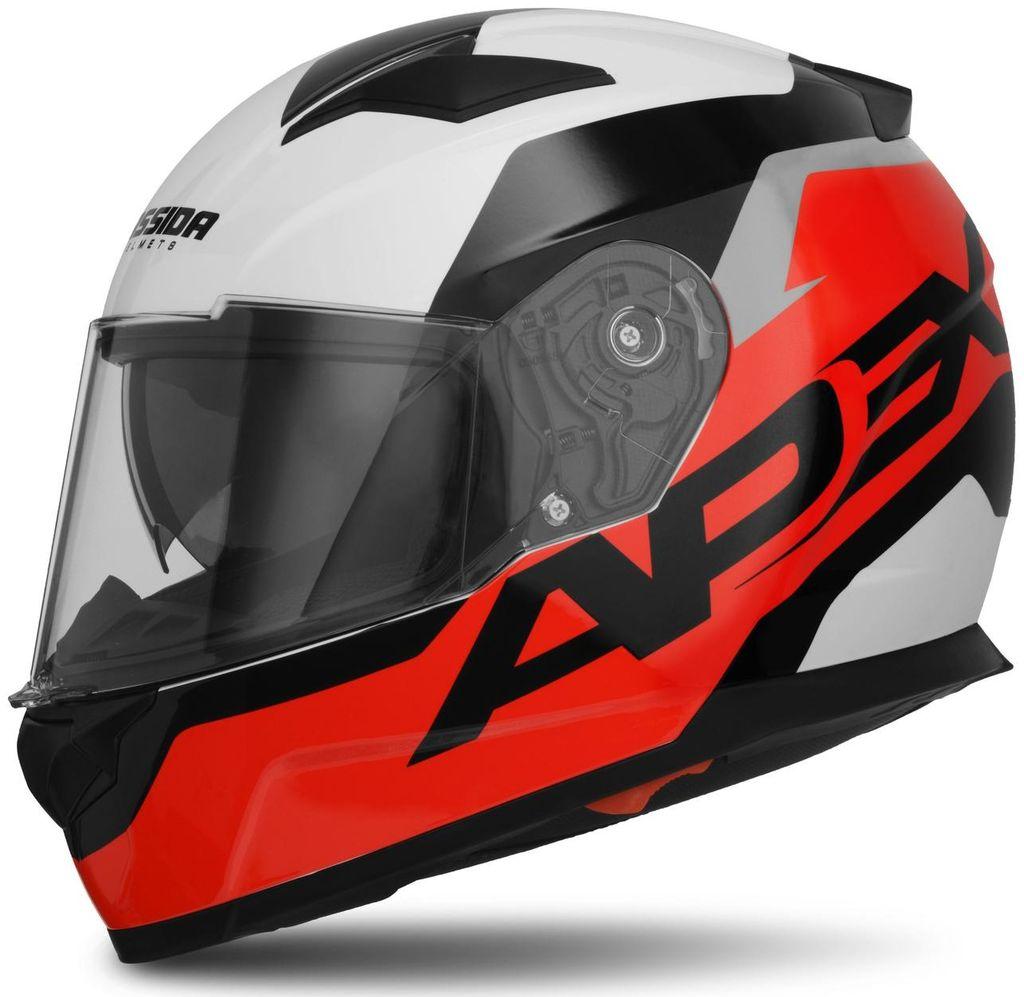 Obrázek produktu přilba Apex Contrast, CASSIDA (červená fluo/černá/bílá/šedá, balení vč. Pinlock folie)