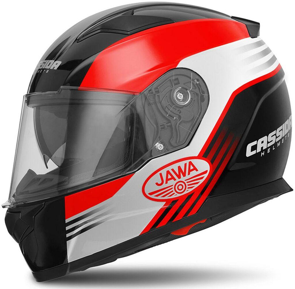 Obrázek produktu přilba Apex Jawa, CASSIDA (červená/černá/šedá, balení vč. pinlock folie)