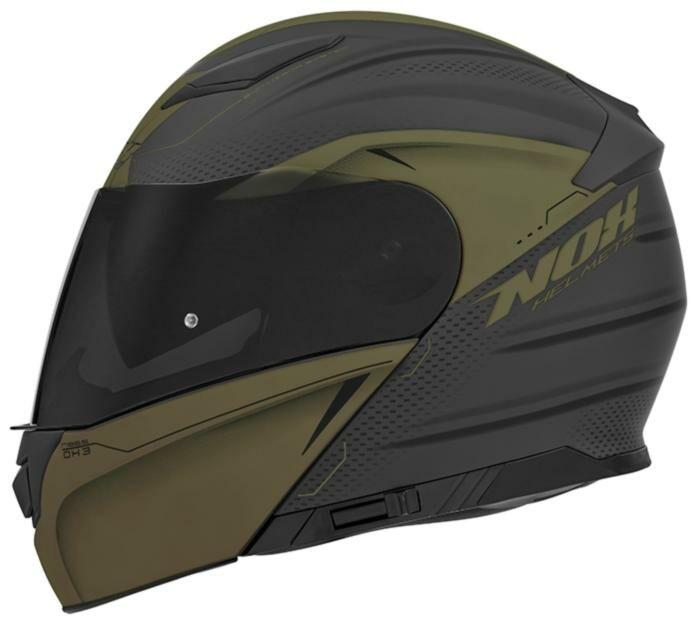 Obrázek produktu přilba N965 EKO, NOX (černá matná/zelená khaki)