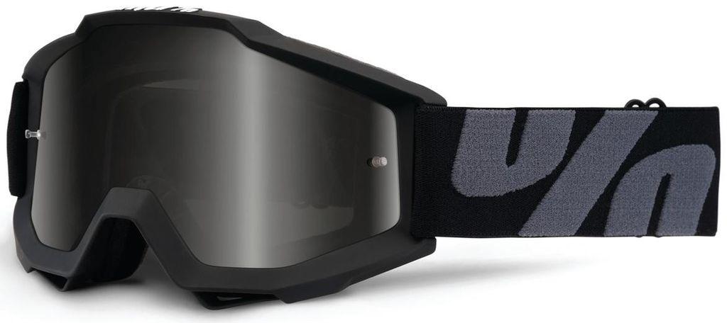 Obrázek produktu brýle Accuri ATV-SAND/OTG Superstition, 100% - USA (černá, šedé plexi s čepy pro slídy) 50205-118-01
