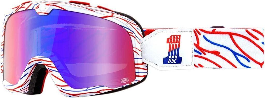 Obrázek produktu brýle Barstow Death Sprays Customs, 100% (červené/modré zrcadlové plexi) 50002-298-02