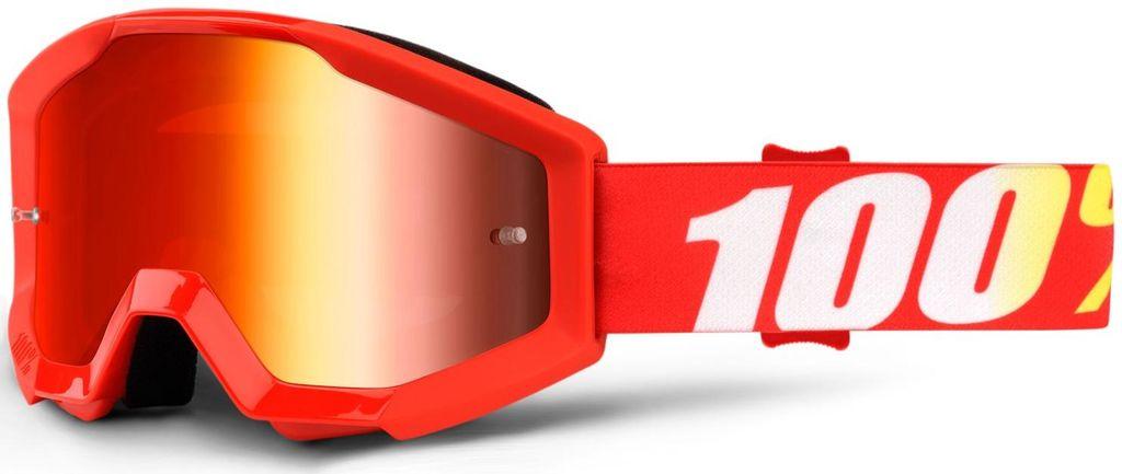 Obrázek produktu brýle Strata Furnace, 100% dětské (červené plexi s čepy pro slídy) 50510-232-02