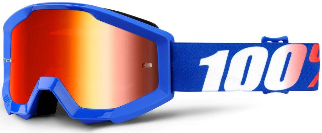 Obrázek produktu brýle Strata Nation, 100% dětské (červené plexi s čepy pro slídy) 50510-236-02