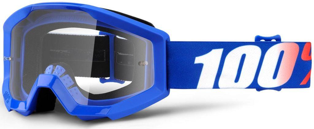 Obrázek produktu brýle Strata Nation, 100% dětské (čiré plexi s čepy pro slídy) 50500-236-02