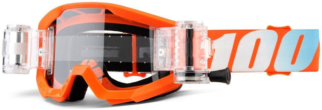 Obrázek produktu brýle Strata Mud. Jr Orange, 100% dětské (čiré plexi s Roll Off) 50520-006-02
