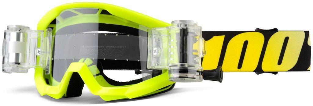 Obrázek produktu brýle Strata Mud. Jr Neon Yellow, 100% - USA dětské (čiré plexi s Roll Off) 50520-004-02