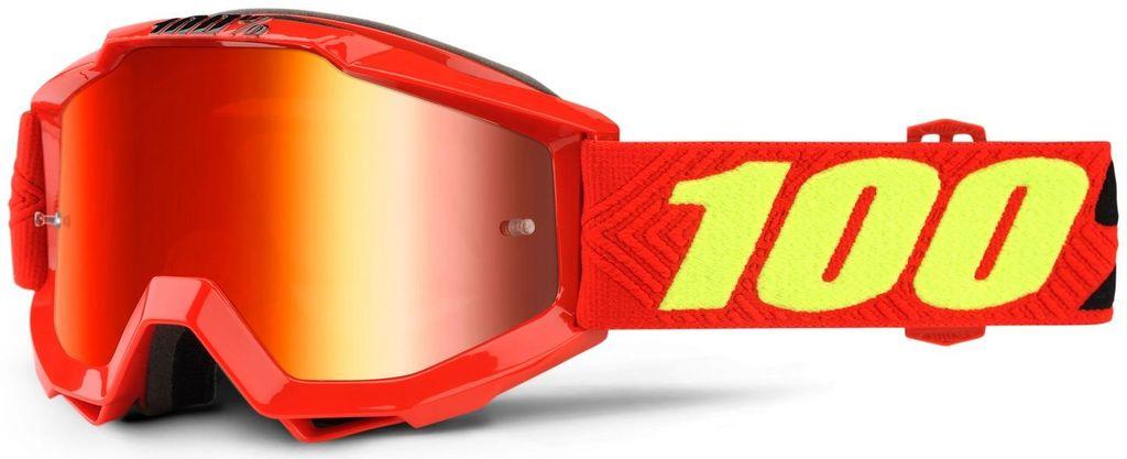 Obrázek produktu brýle Accuri Saarinen, 100% dětské (červené chrom plexi s čepy pro slídy) 50310-203-02
