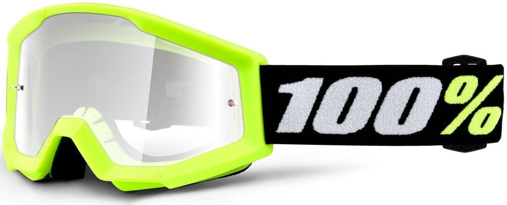 Obrázek produktu brýle Strata MINI, 100% dětské (žlutá, čiré plexi) 50600-004-02