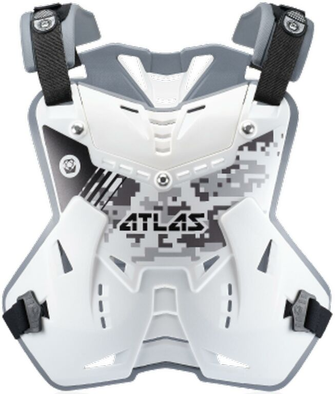 Obrázek produktu chránič hrudi a zad Defender Digital Arctic, ATLAS dětský (bílá, vel. UNI) CPJ-00-010