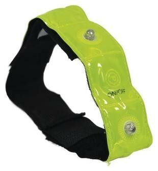 Obrázek produktu reflexní pásek se 4-mi LED diodami Bright Band Plus, OXFORD (žlutá fluo) RE853