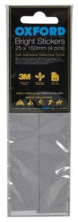 Obrázek produktu reflexní samolepící pásy Bright Stickers, OXFORD (25 x 150 mm, sada 4 ks) RE462